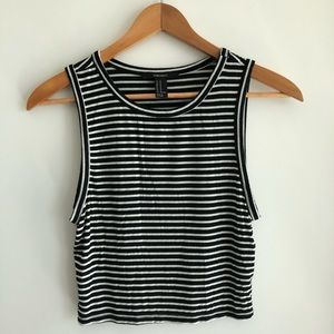 Forever 21 Striped/Cropped Tanktop